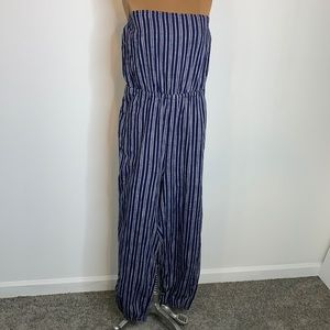 Aerie Cotton Jumpsuit Romper Navy Chambray XL NWT